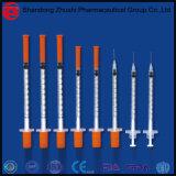Großhandelswegwerfinsulin-Spritze mit Nadel 1cc