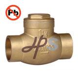 Drinking Water System를 위한 NSF-61 Standard 지도하 자유로운 Brass Swing Check Valve