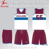 Haut de la vente de vêtements de sport Healong personnaliser la SUBLIMATION Maillot de basket-ball