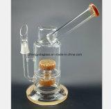 Câmara de ar de vidro amarela do cachimbo de água da recuperação do filtro do injetor do fumo da água