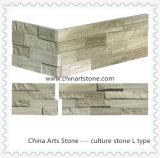Revestimento de mármore de madeira branco da parede de pedra da cultura da ardósia para o edifício