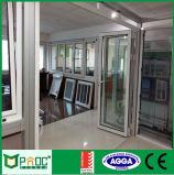 Bi die van het Aluminium van het Profiel van het aluminium Deur met Dubbel Aangemaakt Glas vouwen