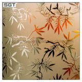4mm19mm Patterned Acid Etched Glass met Ce
