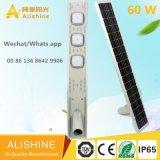 Venta de fábrica nueva Sedign 60 W Todo-en-uno de luz LED solar calle
