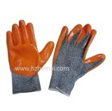 Résistant aux coupures de la sécurité avec des gants de travail enrobés de nitrile