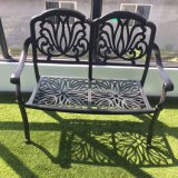 Vector y sillas al aire libre del metal de los muebles