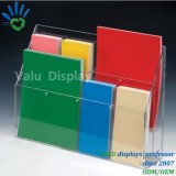 Supports promotionnels acryliques de brochure, support de présentoirs de feuillet