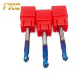 2 Kugel-Wekzeugspritzen-Karbid-Prägescherblock der Flöte-HRC60 blaues überzogenes