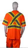 T-shirt r3fléchissant de sécurité de coton