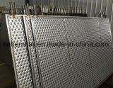 Plaque gravée en relief efficace d'échange thermique de modèle de soudure laser de plaque de bosse