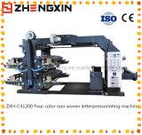 Machine d'impression non-tissée diplôméee de Quatre-Couleur Zxh-C41200