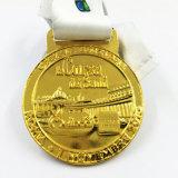 Médaille 2014 de coupe du monde d'or du Brésil avec la bande