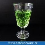 Glazen 7 Oz Stemware van de Wijn van de Stijl van de diamant de Witte