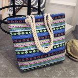 Saco de praia de lona mochila de lona impressa saco de arrumação de Viagem