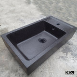 A Kkr Superfície sólida Preto bancada de pia com chips