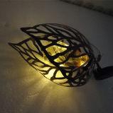 Embarcaciones de hierro de la energía solar deja colgar la lámpara para la decoración de jardín