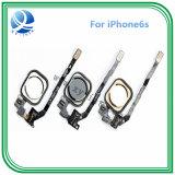 Botón del hogar del teléfono móvil para el iPhone 5s vende al por mayor el oro blanco del negro del cable de la flexión