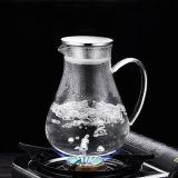 Jeu en verre de vente chaud de bac de café de thé de l'Europe de jeu de cruche populaire en verre de jus