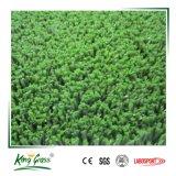 Erba sintetica esterna del tappeto erboso della corte di tennis del PE impermeabile poco costoso