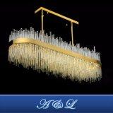 Luxe lustre en verre de lampe en acier inoxydable pour l'hôtel Salle à manger