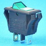 Interruptor de 12V LED de encendido del eje de balancín, interruptor de encendido de 220V Rocker