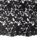 Venda de fábrica Design de Moda 3D Bordados Flower Guipure Tecido Lace