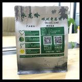 De vlakke Zak van de Ritssluiting van de Verpakking van het Voedsel Buttom Douane Afgedrukte