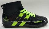 電気ファブリック上部の履物のインドアサッカーのゴム製Outsoleの靴(177)