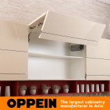 イギリス様式の黄色のラッカー灰色のメラミン島の食器棚(OP15-058)