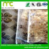 Het in reliëf maken van Zacht pvc- Blad voor de Bescherming van de Oppervlakte van het Glas