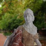 Bon prix Figure statue en marbre sculpté à la main pour la décoration