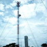 Соединение на массу на базе треугольник Guyed WiFi сотовый стальной башни