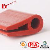 Borracha de silicone da extrusão da alta qualidade que afia tiras da alta temperatura para o equipamento elétrico