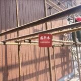 옥외 UV 저항하는 훈장 물자 WPC 외부 벽 위원회