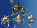 Chaleira de aço inoxidável de 50L ~ 600L para fogão de cozinha industrial