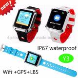 Спорт 2g/GSM делает вахту водостотьким отслежывателя GPS малышей запястья руки франтовской с Geo-Загородкой Y3