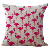 フラミンゴのクッションカバーが付いている卸し売りデジタル印刷のソファーのクッションか枕