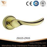Handvat van de Hefboom PVD van de Legering van het zink het Gouden voor de Deur van de Ingang (Z6025-ZR05)