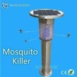 Lâmpada psta solar do assassino do mosquito do aço inoxidável;