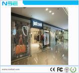 P10mm Centro Comercial de la pared de cristal de la publicidad Display de LED transparente