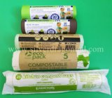 トウモロコシ澱粉十分に100%の生物分解性のCompostable 7Lごみ袋