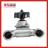 SS304/SS316L Type d'hygiène sanitaire U Tri membrane de la vanne de fermeture