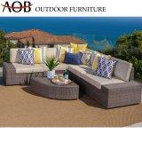 Il giardino esterno moderno imposta la mobilia di vimini del sofà dell'angolo di svago dell'hotel del patio del rattan domestico del balcone