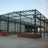 중국은 가벼운 강철 구조물 건물 또는 축사를 조립식으로 만들었다