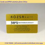 Cartão Glittering do ouro - cartão do PVC com ouro metálico