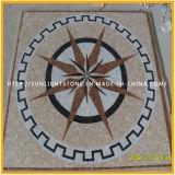 Padrão de mosaico natural de pedreiro natural e mármore para decoração de piso
