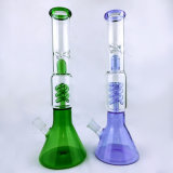Taça clássica de vidro de vidro colorida espessura da tubulação de fumo da tubulação de água da árvore do rei 5mm do HB com Downstem