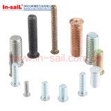 Стержни стали углерода ISO13918 продетые нитку сваривая