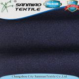 Spandex Terry francês do poliéster 5% do algodão 20% do Indigo 75% que faz malha a tela feita malha da sarja de Nimes para calças de brim
