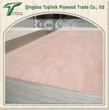 la base Okoume del álamo de 12m m hizo frente a la madera contrachapada comercial, precios de madera de la tarjeta de Linyi